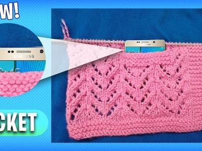 *NEW* Beautiful Knitting Pattern Design    Pocket Knitting Design Tutorial Hindi