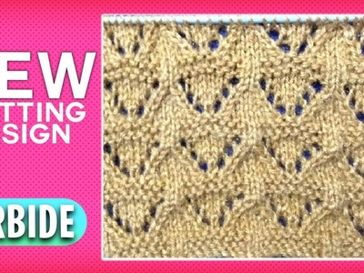 *New* Beautiful Knitting Pattern Design 2018 || Carbide Knitting Design Tutorial