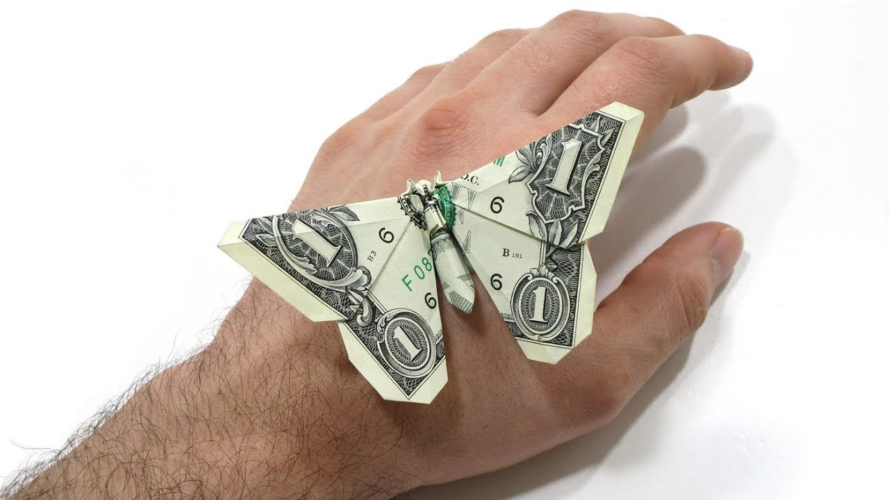 ORIGAMI DOLLAR BILL BUTTERFLY TUTORIAL (Michael LaFosse ... - photo#34
