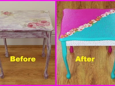 Paint old table - painted table - Decoupage tutorial - DIY - Do It Yourself