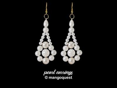 Pearl Earrings Tutorial Fashion Jewellery DIY