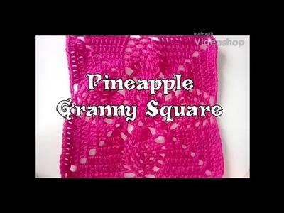 Pineapple Granny Square - May YouTube Bonus - 2018 Granny Square CAL