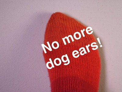 Preventing Dog Ears in Grafted Sock Toes. Technique Tuesday
