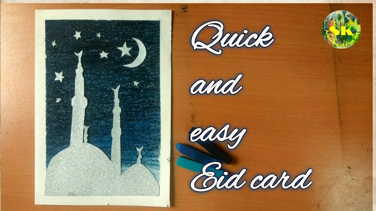 quick and easy eid card  greeting card design  make
