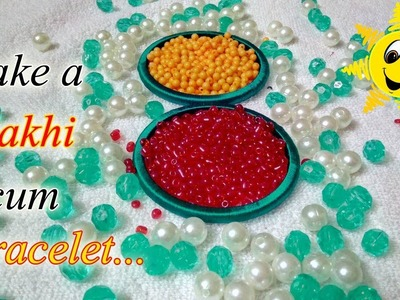Rakhi Making ideas For Raksha Bandhan || How To Make Beautiful Rakhi At Home | Pearl Bracelet