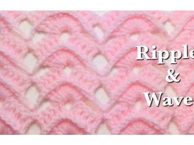 Ripples and Waves crochet stitch for crochet baby blankets and more by Crochet for Baby #148