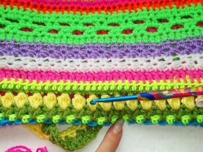 Starting the Stitch Sampler Crochet Cluster stitch made easy