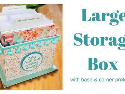 Storage Box Tutorial | 6 x 6 Paper Storage | DIY Chipboard Storage Box