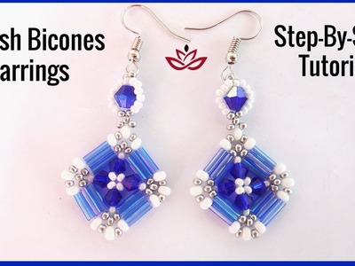 Stylish Bugles and Bicones Earrings -Tutorial