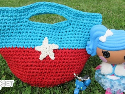 Toy Tote Bag for Kids!  Back To School Ready! Crochet Pattern