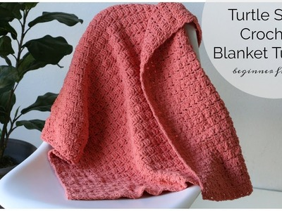 Turtle Shell Crochet Blanket Tutorial - Beginner Friendly