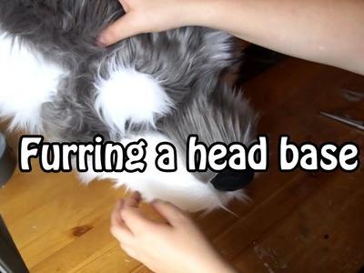 .Tutorial #9. Furring the Fursuit Head Base - part 1