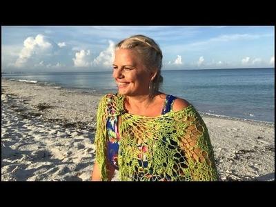 Yarn on the Beach 159 live sunrise video podcast with a Kristin Omdahl knitting crochet