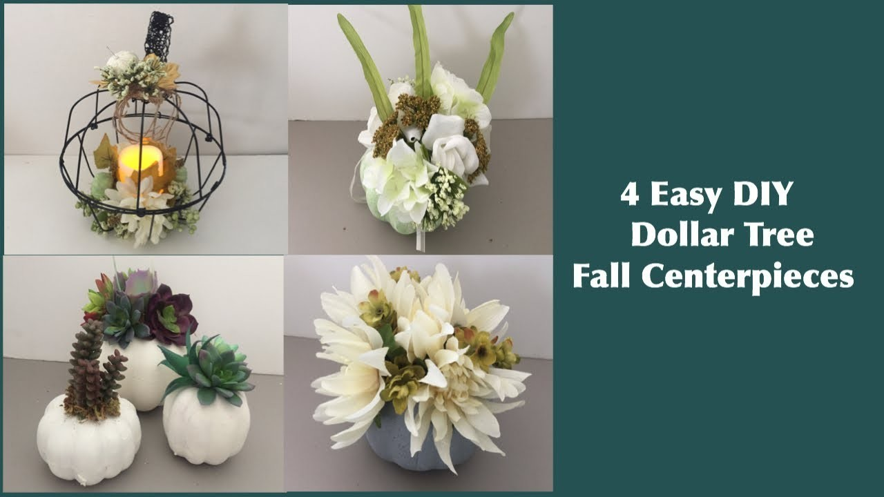 4 Amazing Dollar Tree DIY Fall Centerpieces for Home Decor and Weddings (2018)