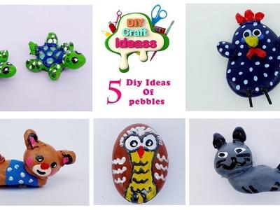 5 pebbles diy ideas #pebbles #DIY art And Crafts || arush diy craft ideas