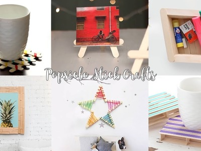 6 DIY Popsicle Stick Craft Compilation | Craft Ideas | Home Decor