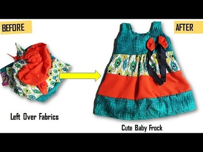 Baby Frock From Left Over Fabrics, Re-Use Your Left Over Fabrics