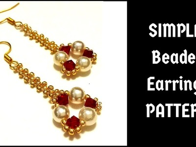 Beaded Earrings. How to make earrings. Jewellery making