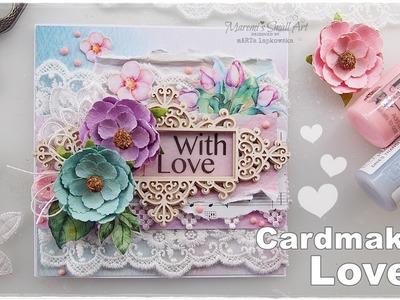 Cardmaking Love Tutorial ♡ Maremi's Small Art ♡