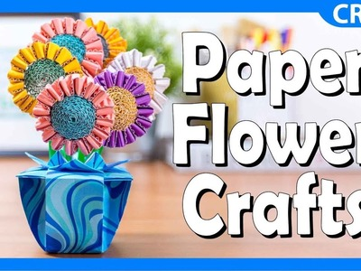 Corrugated Paper Flower Crafts | DIY Summertime Craft For Kids