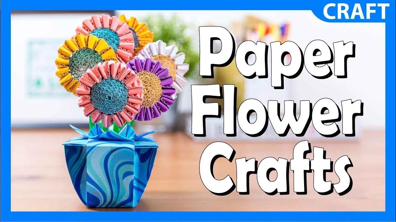Corrugated Paper Flower Crafts | DIY Summertime Craft For Kids