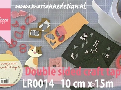 Craft essential | How to use Double sided craft tape for diecutting | Tools by Marianne Design