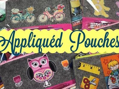 Craft Fair Idea #3:  Appliquéd Pouches * With a guest crafter! | 2018