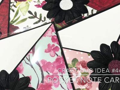 Craft Fair Series 2018-Pocket Notecards!