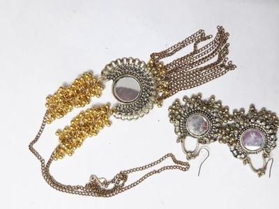 DIY Afgani Necklace Set from long length Afgani Earrings