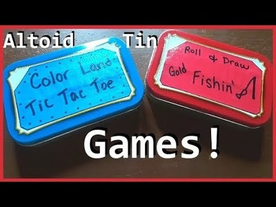 DIY Altoid Tin Games ---Upcycle Craft Project!