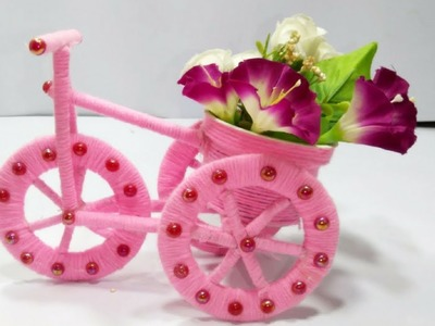DIY Bicycle Using Cardboard & Wool | Felna Jinish Diye | Wool Craft Idea | Uler Kaj Bangla