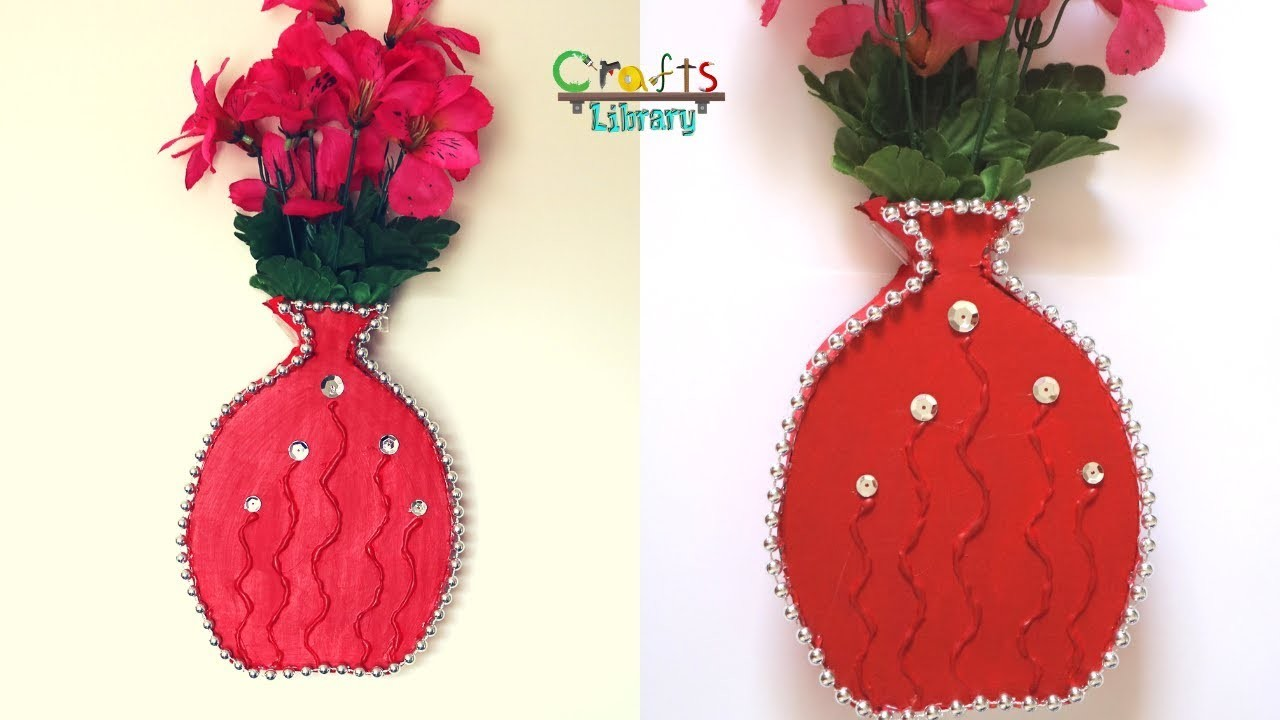 DIY Cardboard Flower Vase | Simple Flower vase making at home & DIY Cardboard Flower Vase Simple Flower vase making at home