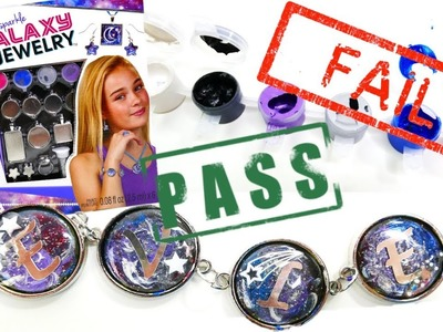 DIY Craft Kit Tested! Alex Paint and Sparkle Galaxy Jewelry Bracelet Ring Necklace