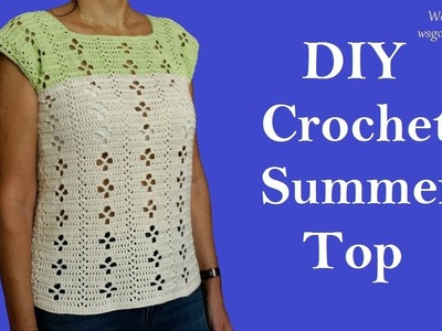 DIY Crochet Summer Top Lace Pattern (Heklana bluza)