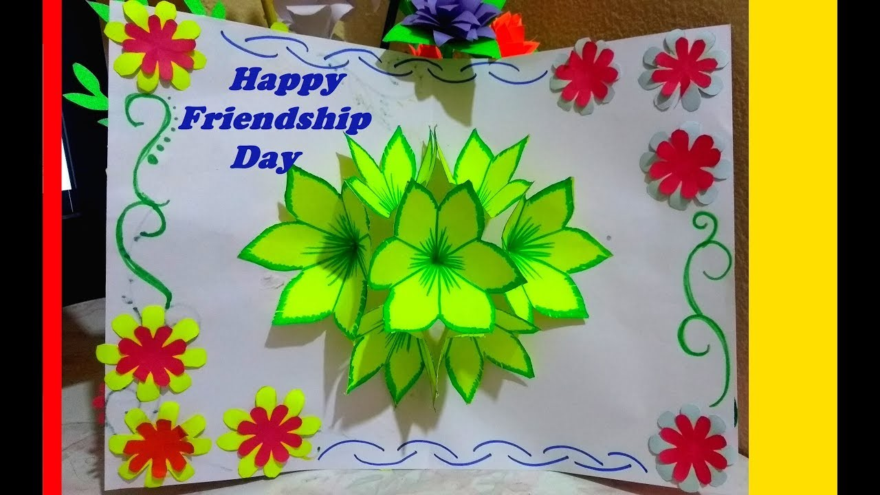DIY Friendship day  Easy Pop up Card ||How to make ||SHREE ARTS