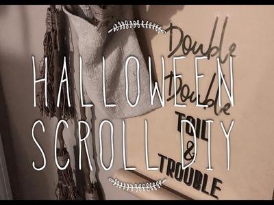DIY Halloween Scroll For Under $10!