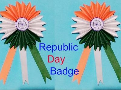 Diy Independence Day Badge.Indian Tricolour Badge15 August craft for kids.art and craft.Creative Art