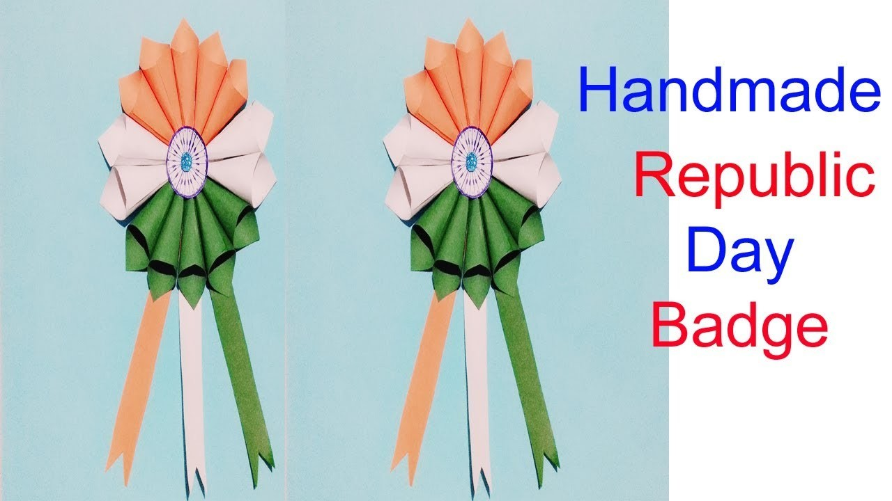 Diy Independence Day Badge Indian Tricolour Badge 15 August