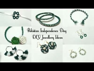 DIY Independence Day of Pakistan 8 new jewelry ideas 2018 | Art, Craft and Health