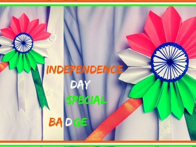DIY: Independence Day Tricolour Badge | 15th August craft ideas 2018