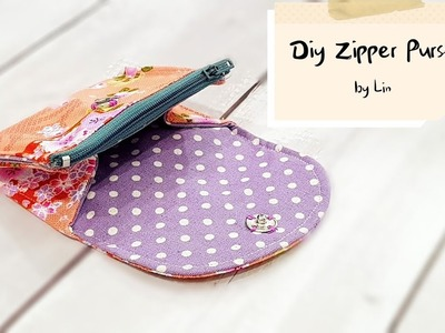 Diy Purse with zipper | Best sewing tutorial【实用小钱包教学】简易版#HandyMun❤❤