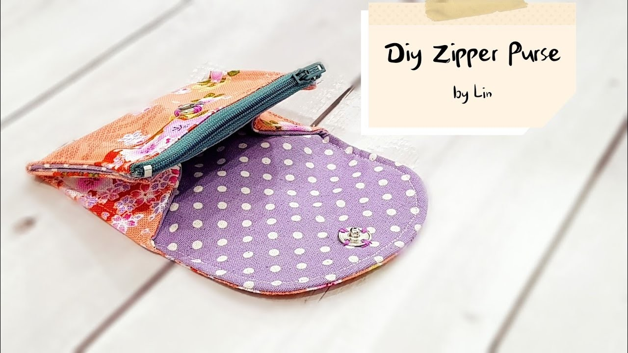 Diy Purse with zipper | Best sewing tutorial【实用小钱包教学】简易版#HandyMun❤❤