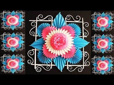DIY. Simple Home Decor. Wall, Door Decoration. Hanging Flower. цветы из бумаги. Paper Craft Ideas 11