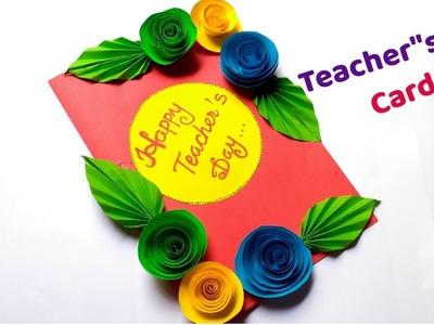 DIY Teacher's Day card.Handmade Teacher's Day card.DIY Greeting card.