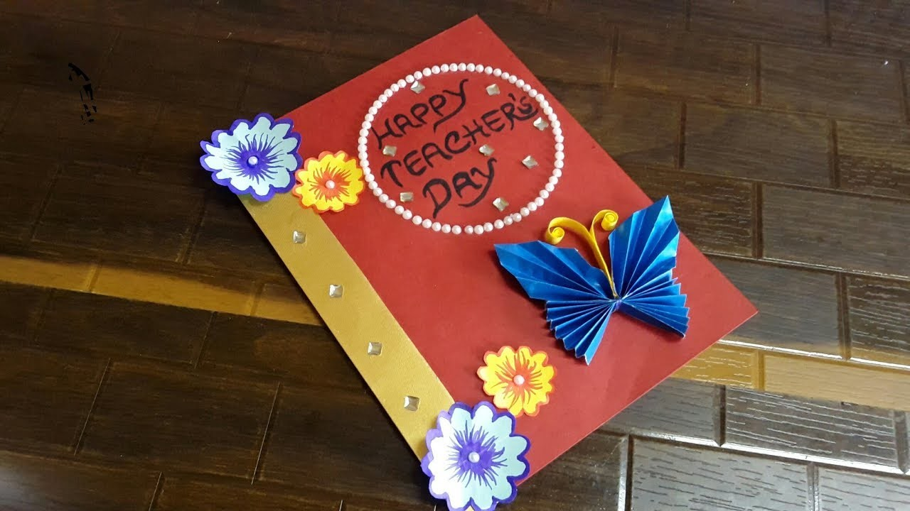 DIY Teacher's Day card. Handmade Teachers day card making ideas