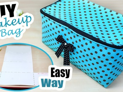 DIY ZIPPER BOX BAG ~ Dotted Cute Fast Making Bag