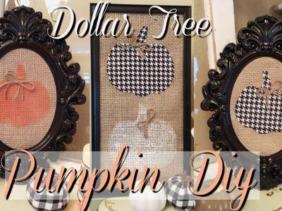Dollar Tree DIY Framed Pumpkins   Fall Home Decor On A Budget!