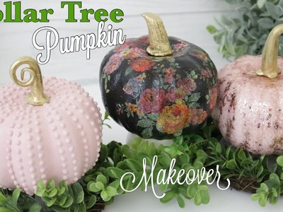 Dollar Tree DIY Pumpkin Makeover | Pumpkin Decor