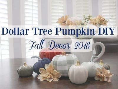 DOLLAR TREE PUMPKIN DIY | FALL DECOR 2018