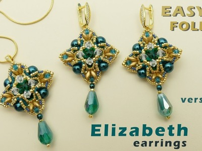 Earrings and Pendant with 14 mm rivolis tutorial